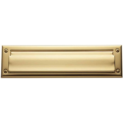 Baldwin Estate Series Letter Box Plate, Package Size - Lifetime Polished Brass