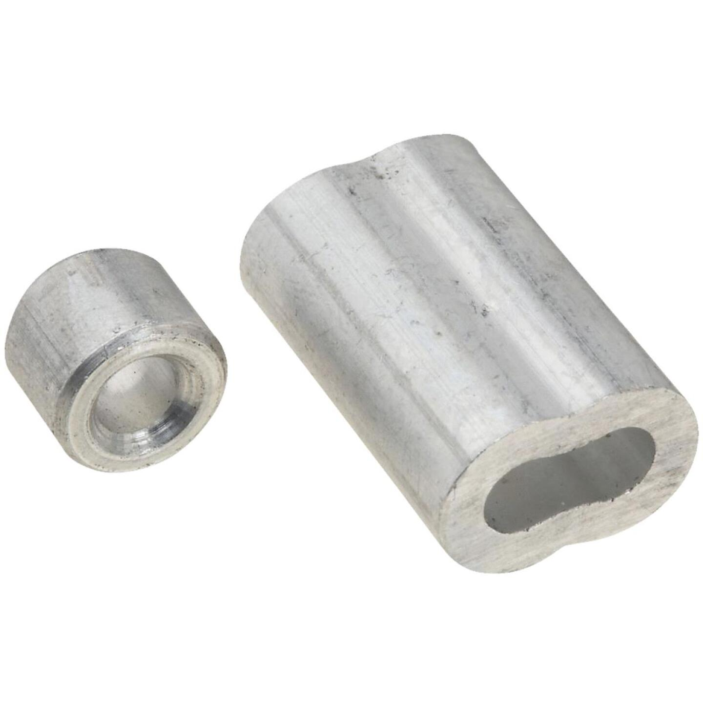 National 3/16 In. Aluminum Garage Door Ferrule & Stop Kit Image 1