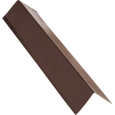 NorWesco A 3 In. X 5 In. Galvanized Steel Roof & Drip Edge Flashing, Brown