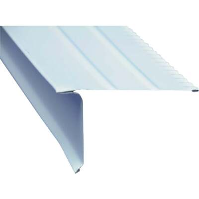 Amerimax F5R Aluminum Drip Edge Flashing, White