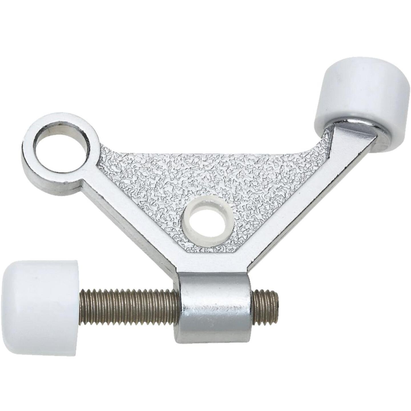 National Satin Chrome Zinc Hinge Pin Door Stop Image 1