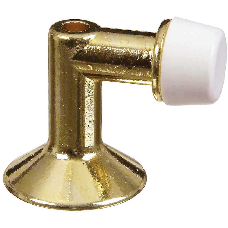 National Bright Brass Floor Door Stop Image 1