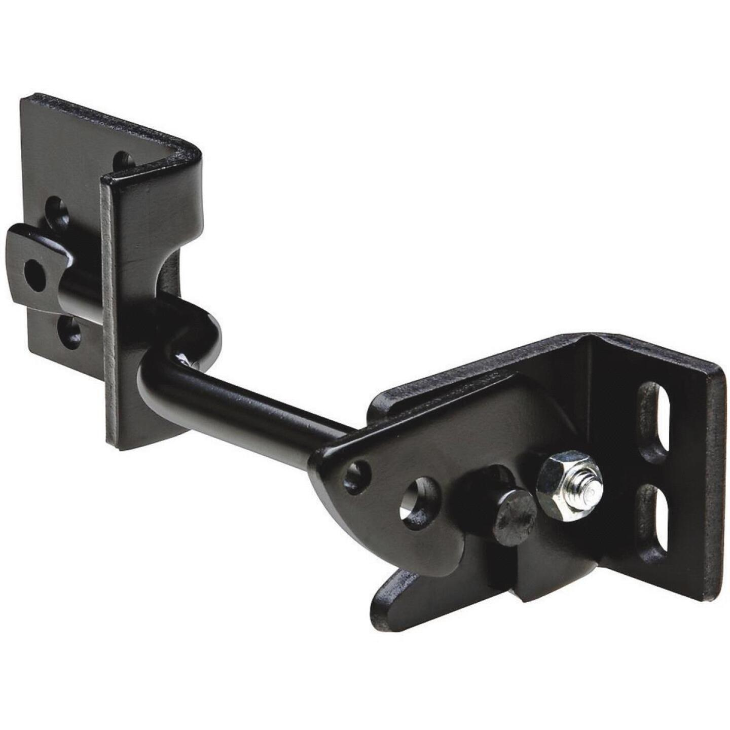 National 8 In. Black Adjust-O-Matic Heavy-Duty Gate Latch Image 1