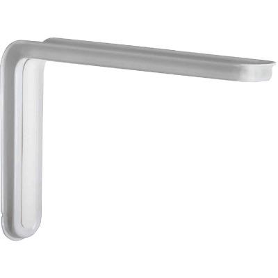Knape & Vogt Slim-Line 10 In. D. x 6.5 In. H. White Steel L Bracket