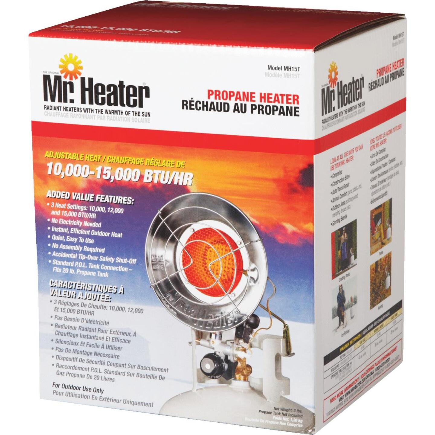 MR. HEATER 15,000 BTU Radiant Single Tank Top Propane Heater Image 2