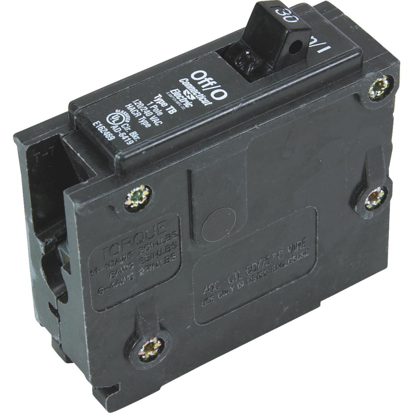 Connecticut Electric 30A Single-Pole Standard Trip Interchangeable Packaged Circuit Breaker Image 1