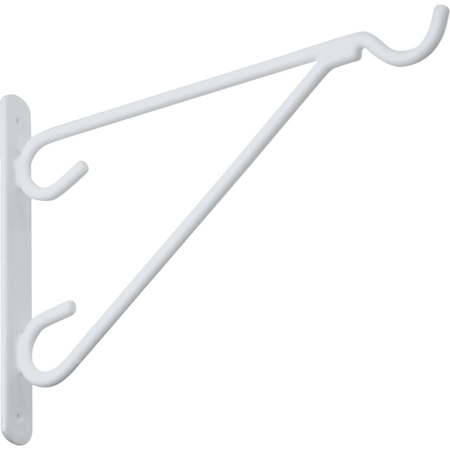 National 12 In. White Vinyl-Coated Steel Plant Hanger Bracket Image 4
